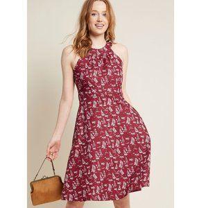 Mata Traders Modcloth Sailboat Print A Line Dress
